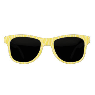Yellow Zebra Print Pattern Stripes Sunglasses