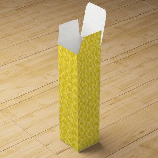 Yellow Zebra Print Pattern Wine Box