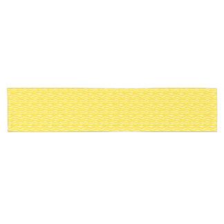 Yellow Zebra Stripes Pattern Short Table Runner