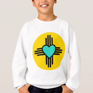 Yellow Zia Heart Sweatshirt