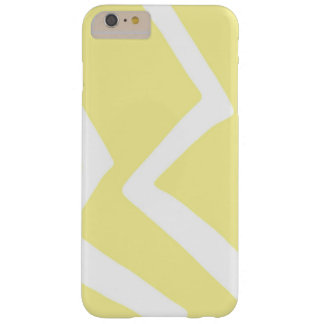 Yellow Zig Zag Design Pattern Artwork Barely There iPhone 6 Plus Case