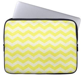 Yellow Zig Zag Pattern Laptop Sleeve