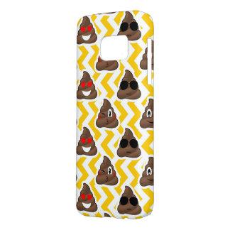 Yellow Zig Zag Poop Emojis Samsung Galaxy S7 Case