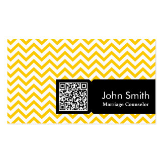 Yellow Zigzag Marriage Counseling Business Card