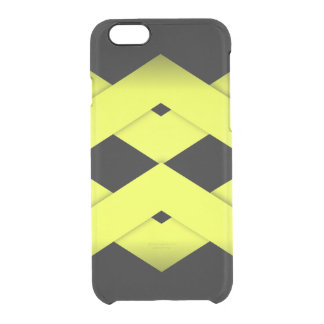 Yellow Zigzag on Black Clear iPhone 6/6S Case