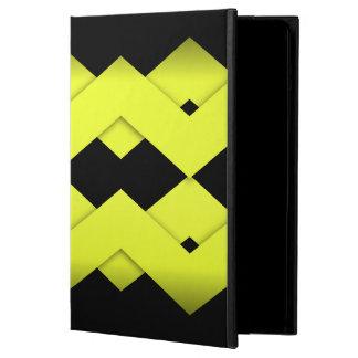 Yellow Zigzag on Black iPad Air Case