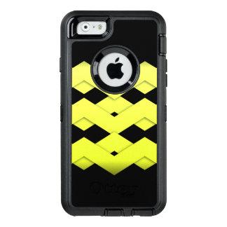Yellow Zigzag on Black OtterBox iPhone 6/6s Case