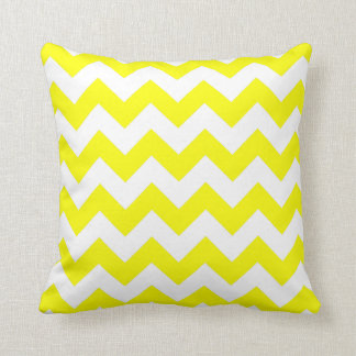 Yellow Zigzag Pattern Throw Pillow