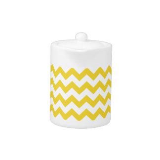Yellow Zigzag Stripes Chevron Pattern
