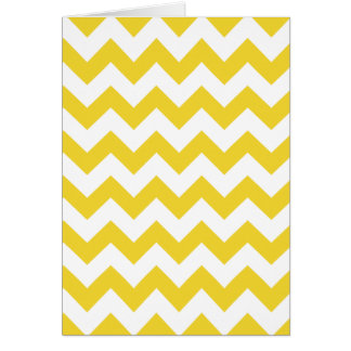 Yellow Zigzag Stripes Chevron Pattern Card