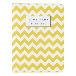 Yellow Zigzag Stripes Chevron Pattern Extra Large Moleskine Notebook