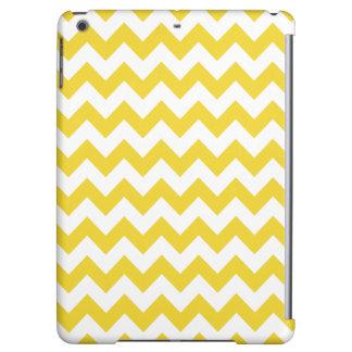 Yellow Zigzag Stripes Chevron Pattern iPad Air Covers