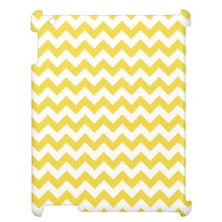 Yellow Zigzag Stripes Chevron Pattern iPad Cases