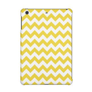 Yellow Zigzag Stripes Chevron Pattern iPad Mini Retina Case