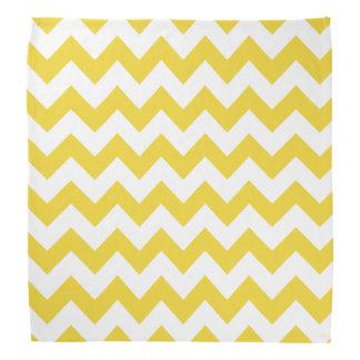 Yellow Zigzag Stripes Chevron Pattern Kerchief