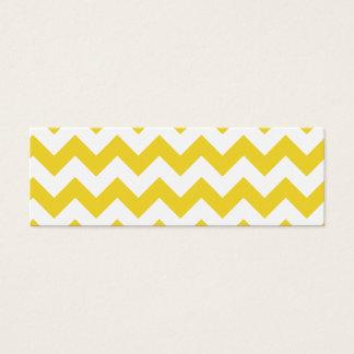 Yellow Zigzag Stripes Chevron Pattern Mini Business Card