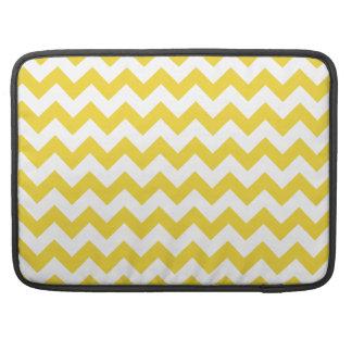 Yellow Zigzag Stripes Chevron Pattern Sleeve For MacBook Pro