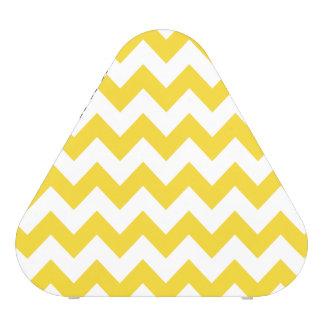 Yellow Zigzag Stripes Chevron Pattern Speaker