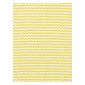 Yellow Zigzag Stripes Chevron Pattern Tablecloth