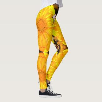 Yellow Zinnia Leggings