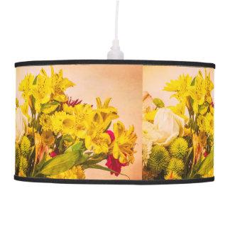 Yellowed Flowers Pendant Lamp