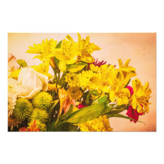 Yellowed Flowers Photo Print