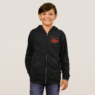 Yelloweye Rockfish - Boy's Customizable Zip Hoodie