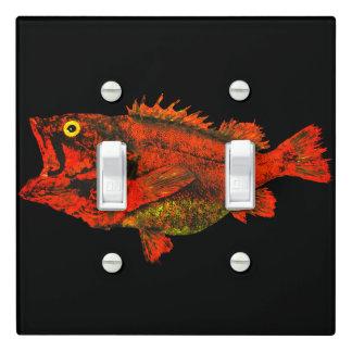 Yelloweye Rockfish - Double Light Switch Cover