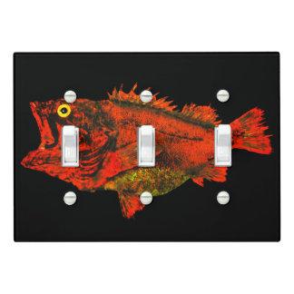Yelloweye Rockfish - Triple Light Switch Cover