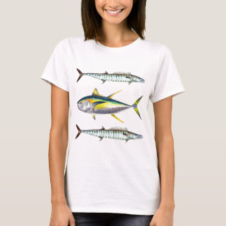 yellowfin and wahoo fish pattern T-Shirt