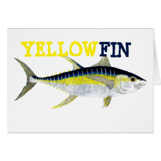 Yellowfin Tuna Greetings Card