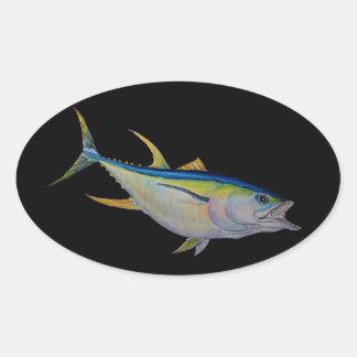 yellowfin tuna oval sticker