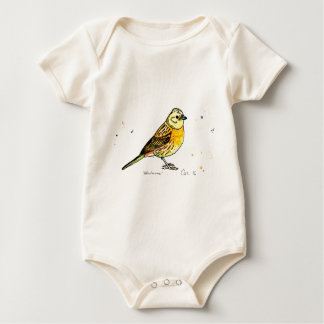 Yellowhammer bird baby bodysuit