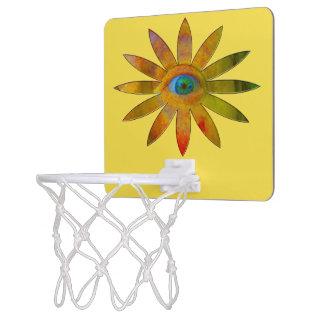 Yellowish Eye Flower Mini Basketball Hoop