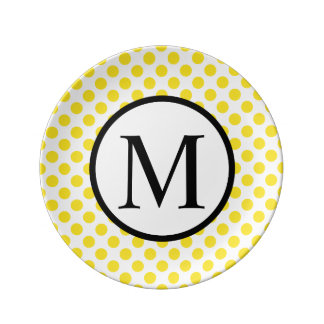 YellowPolkaDots Plate