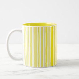 Yellows in Stripes Two-Tone Coffee Mug