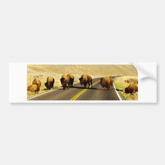 Yellowstone Buffalo Gear Bumper Sticker