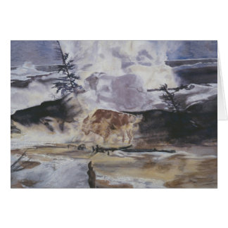 Yellowstone Buffalo in Winter Card