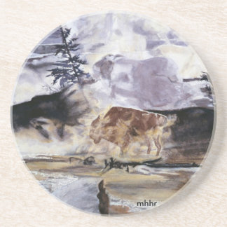 Yellowstone Buffalo in Winter Coaster