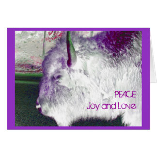Yellowstone Buffalo Peace Joy and Love Card
