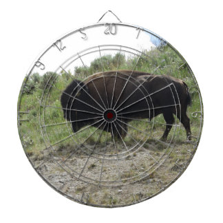 Yellowstone  Buffalo Picture -  Nature At It's Bes Dartboard With Darts