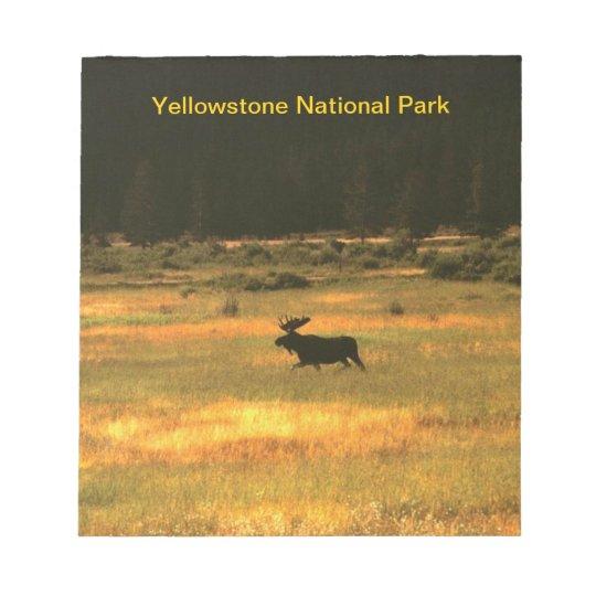 Yellowstone Bull Moose Notepad