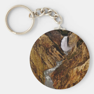 YELLOWSTONE FALL IN YELLOWSTONE NATIONAL PARK KEYCHAIN