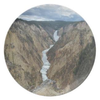 Yellowstone Falls (Lower Falls) plate