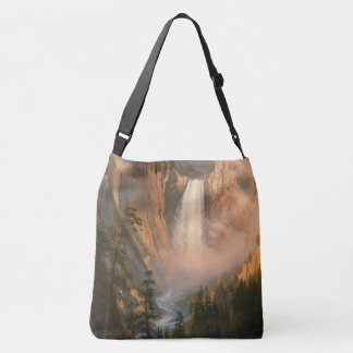 Yellowstone Falls National Park Waterfall Tote Bag