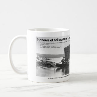 Yellowstone Geology Pioneers I - Boat / Falls Coffee Mug