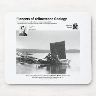 Yellowstone Geology Pioneers Ia - First Boat Mouse Pad