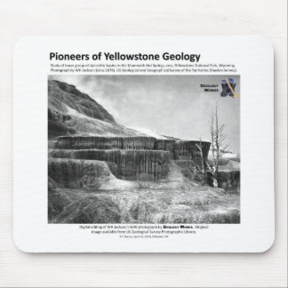 Yellowstone Geology Pioneers II - Hot Springs Mouse Pad