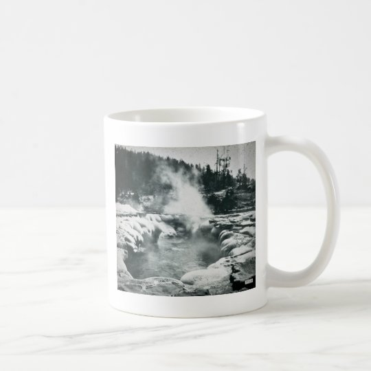 Yellowstone Geyser Vintage Glass Slide Coffee Mug