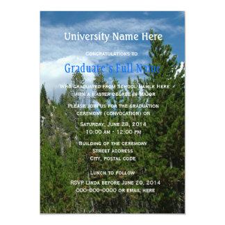 "Yellowstone graduation ceremony (convocation) 5"" x 7"" invitation card"